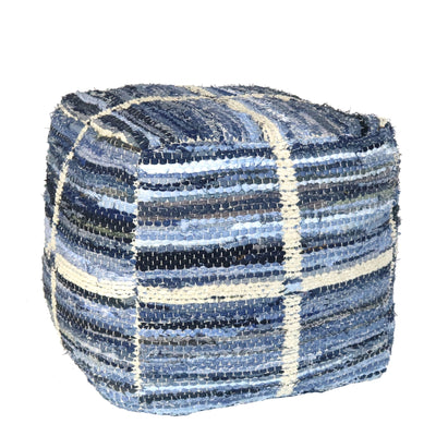 STRAUSS POUF GRID PATTERN