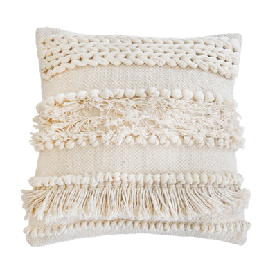"POM POM IMAN HAND WOVEN PILLOW 20"" X 20"" WITH INSERT"