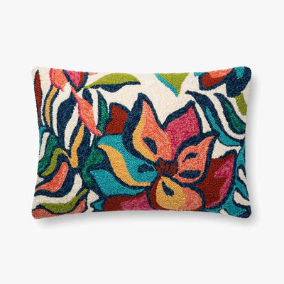 MULTICOLORED TROPICAL LUMBAR PILLOW
