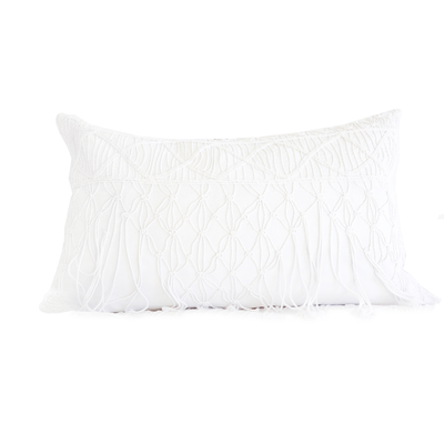 "POM POM ZOE PILLOW 14""X24"" WITH INSERT"