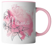 Mama Blumen Aquarell Mutter Rosa Pink