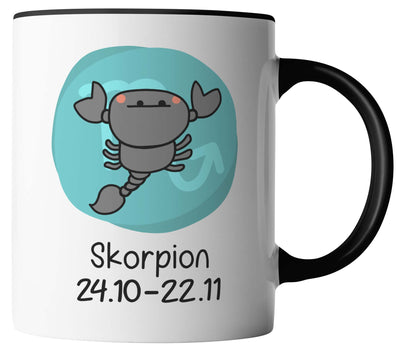 Cartoon Comic Horoskop Sternzeichen Skorpion 24.10. - 22.11.