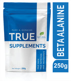 True Supplements Pure Beta Alanine for Increased Training Capacity & Reduced Fatigue | 100 servings | 250g