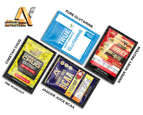 Sample Box / Arms Nutrition Select (Whey Protein , BCAA, Pre Workout, Glutamine )