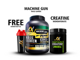 BULK Stack Machine Gun Mass Gainer High Protein 3kg & Captain Creatine 250g + Shaker