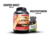 Sniper Whey Protein 80% 2Kg (Chocolate Ice Cream) & Multi-Vitamin