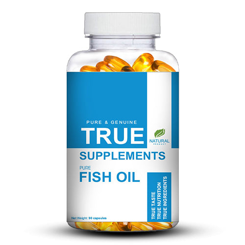 True Supplements Fish Oil 1000mg (EPA 180MG DHA 120MG) | 90 capsules