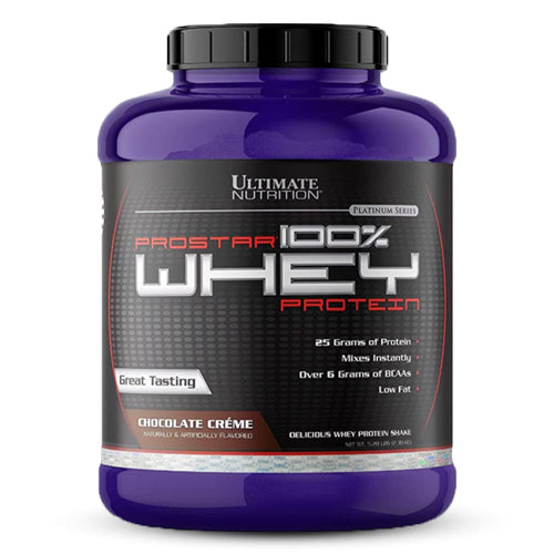 Ultimate Nutrition Prostar Whey Protein, 5.28 lbs/2.4 kg (Chocolate Creme)