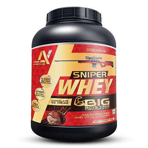 Arms Nutrition Sniper Whey Protein With Multi-Vitamins & Enzymes | Athlete Choice