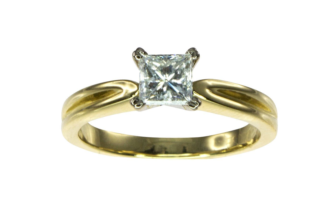 18ct Yellow Gold 0.47ct Solitaire Diamond Engagement Ring