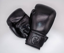 Load image into Gallery viewer, Black boxing gloves