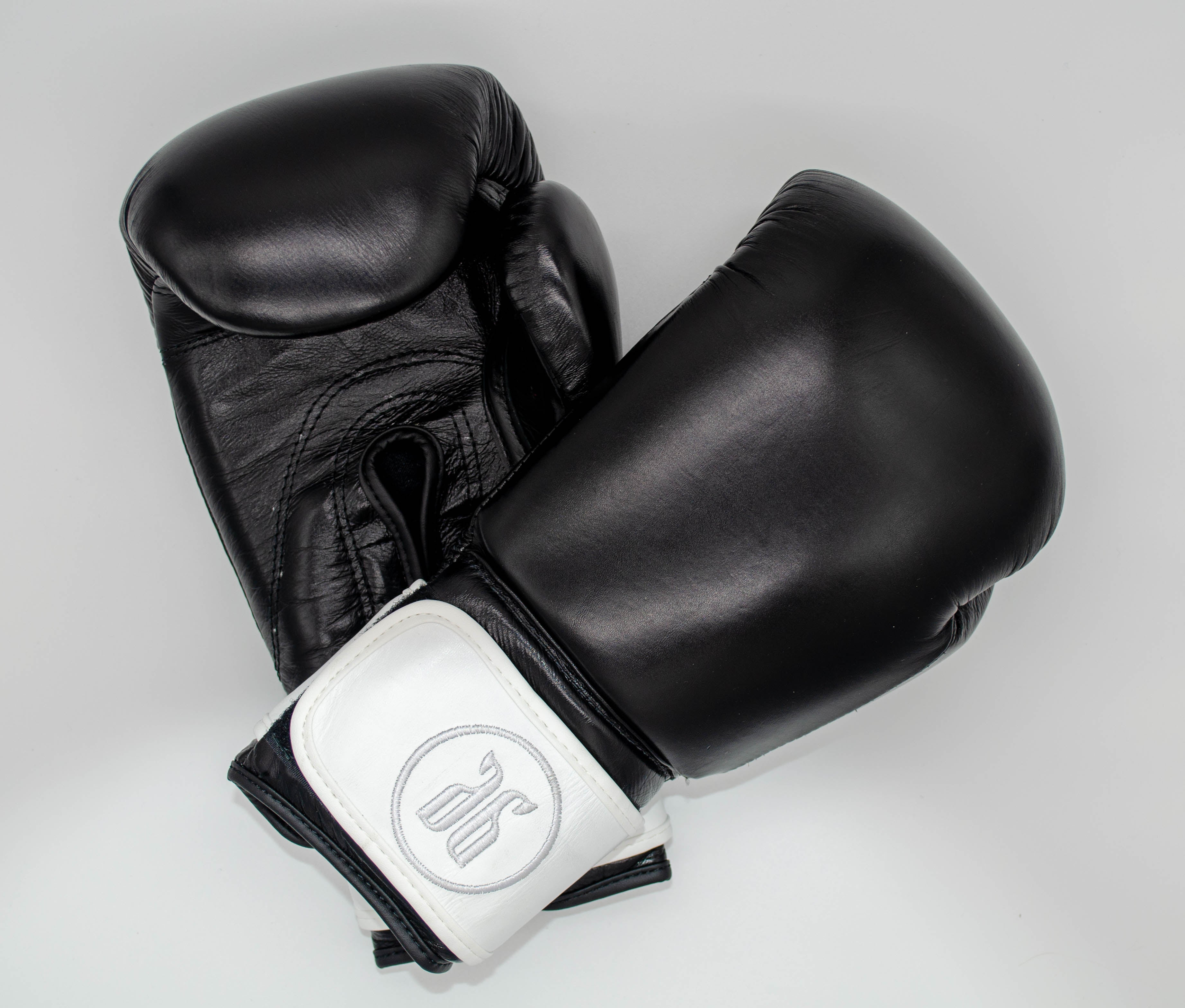 black and white boxing gloves