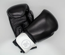 Load image into Gallery viewer, black and white boxing gloves