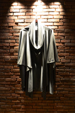 Load image into Gallery viewer, Grey poncho, made and designed in Georgia, Les Saints Perdu, LSP