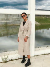 Load image into Gallery viewer, Beige Canvas Coat with Belt