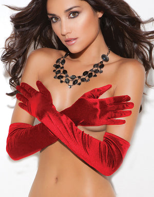 Opera Length Satin Gloves 3-colors