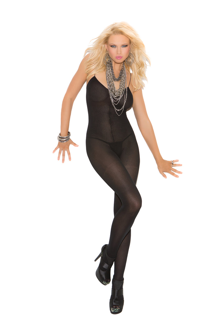 Opaque Bodystocking with Spaghetti Straps 3-colors