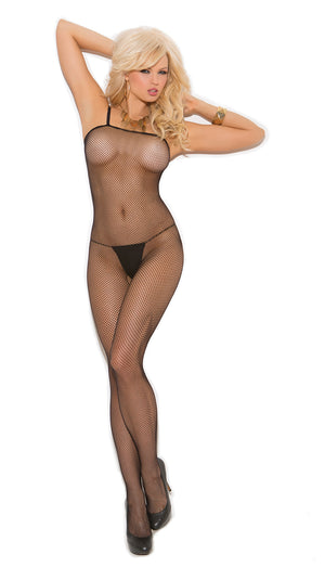 Plus size seamless fishnet bodystocking 1605Q