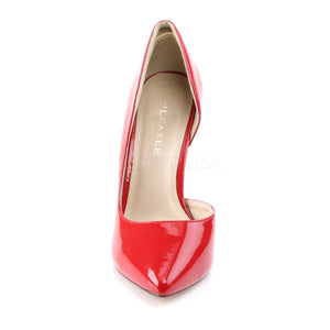 front of Open-sided red pump shoe with 5-inch high heel Amuse-22