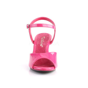 front of pink Ankle strap sandal woman's shoe with 3-inch heel Belle-309