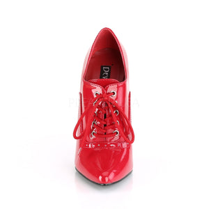 front of red Lace-up fetish pumps with 6-inch spike heels Domina-460