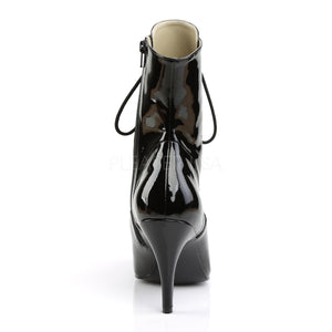back of Lace-up front ankle boots with 4-inch spike heels Dream-1020