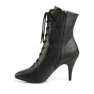 zipper Lace-up front ankle boots with 4-inch spike heels Dream-1020