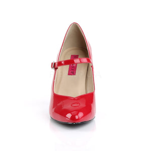 front of red Mary Jane pump shoes with 4-inch spike heel Dream-428
