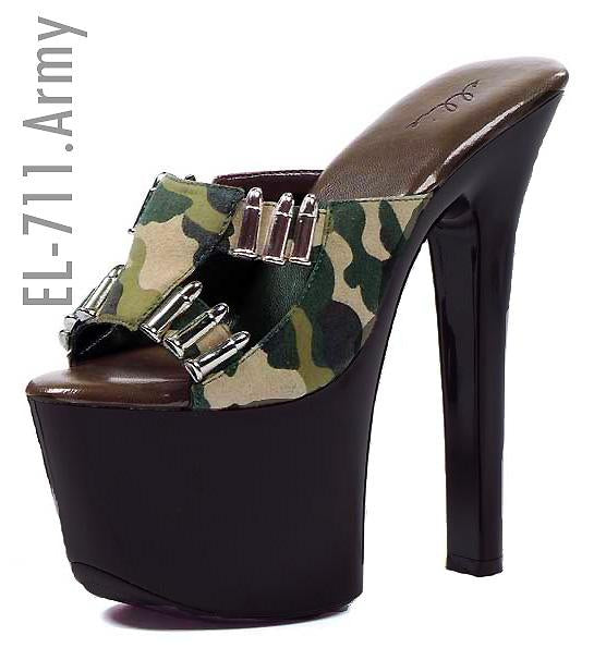 Camouflage Women's Shoe with 7-inch Heel
