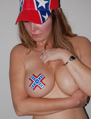 Confederate flag cap 905026 Rebel hat with pasties