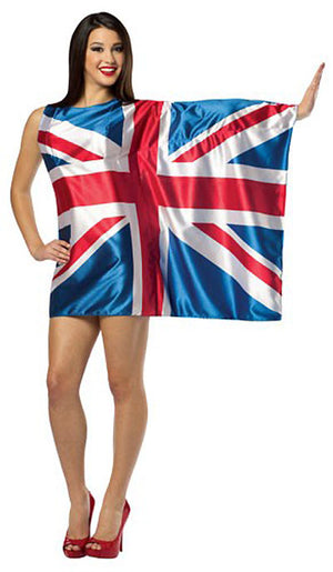 United Kingdom British flag dress 1970