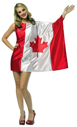 Canadian flag costume dress 1971