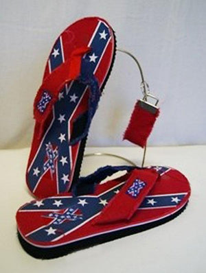 Rebel Confederate Flag flip flops 174566