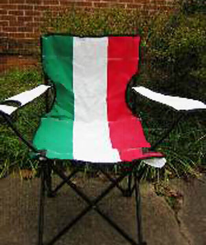 Italy flag folding chair 17726