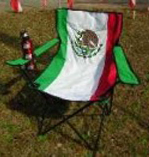 Mexican Flag folding chair 81565