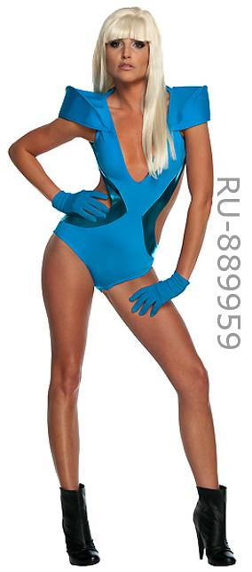 Lady Gaga Blue Swimsuit from POKER FACE Video