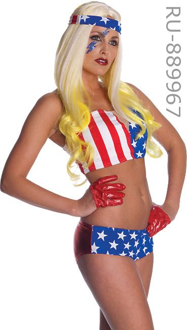 Lady Gaga American Flag Outfit from TELEPHONE video