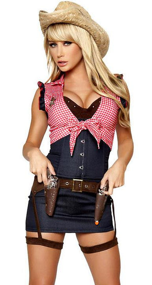 Cowgirl western costume 7-piece set 4360