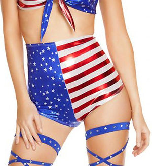 USA American Flag Pin-Up Costume 2-pc Set