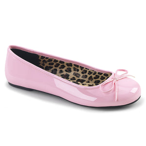 pink classic adult ballet flat with bow accent Anna-01