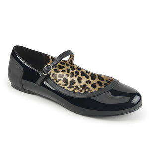 black patent Mary Jane ballet flat Anna-02