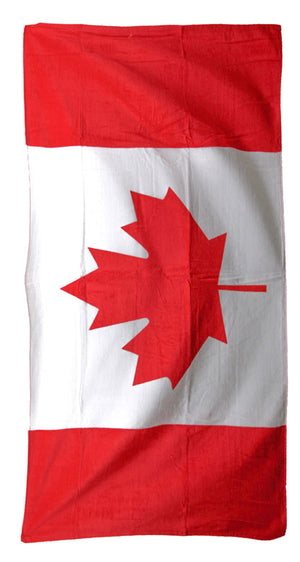 Canadian flag beach towel 30x60-inches TWXCA