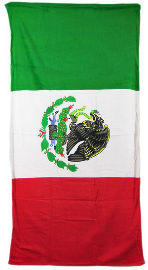Mexican flag beach towel 084