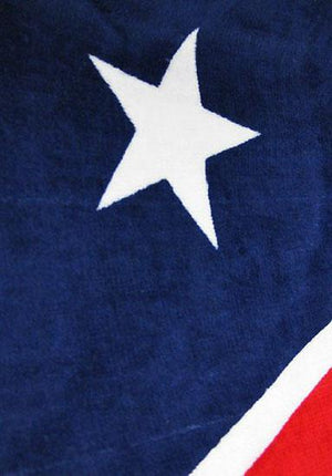 TW-181 Dual Rebel American Flag Beach Towel 30x60