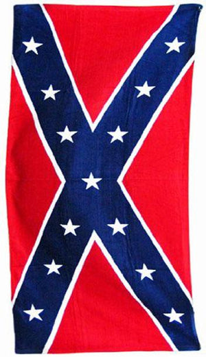 TW-065 Rebel Confederate Flag Beach Towel 30x60