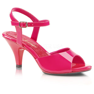 pink Ankle strap sandal woman's shoe with 3-inch heel Belle-309