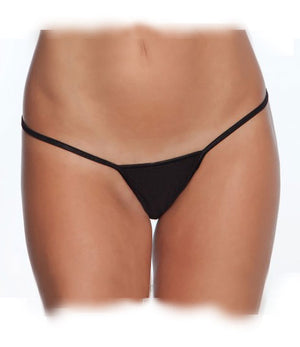 close up of black low rise Lycra G-string one size 100