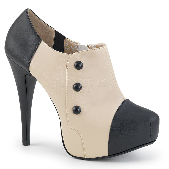 Platform 3-Button Ankle Boot with 5-inch Heel