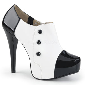 white platform 3-button ankle boot with 5-inch Chloe-11
