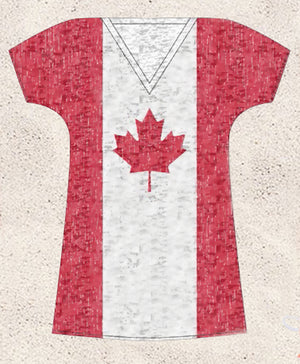 Canadian flag bikini cover-up beach dress 2PXCAD